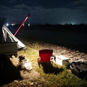 行ってきました。軽トラキャンプで鮎釣り