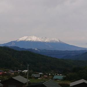 初冠雪、御岳・乗鞍・駒ヶ岳〜