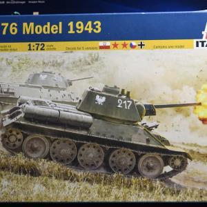 T34/76 Model 1943 (1/72)を作ろう