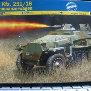 Sd.Kfz.251/16 火炎放射器搭載ハノマーク(1/72)を作る