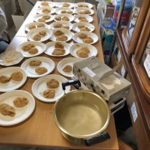 鏡餅で芋餅作り!