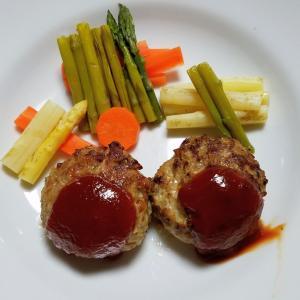 昨日の晩御飯「ハンバーグ」