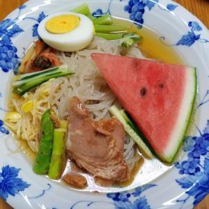 昨日の晩御飯「冷麺」