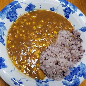 昨日の晩御飯「雑穀米のコーンカレー」