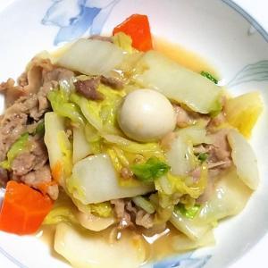 昨日の晩御飯「白菜の中華炒め物」