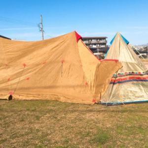 いつかのテントの試し張り!