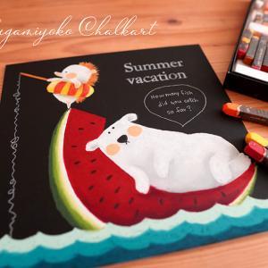 チョークアートキット、夏のデザイン