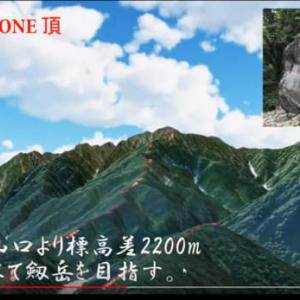創楽 バーチャルドローン 剱岳(早月尾根)山岳立体マップソフト頂
