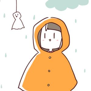 【5歳】雨のお散歩