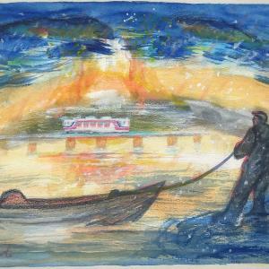 『三陸の聖火』いちまいの絵 2021年4月