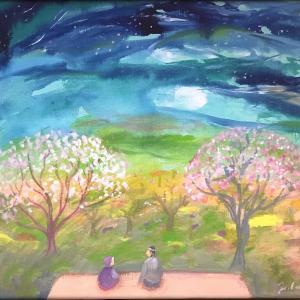 『ムツばあさんの空』いちまいの絵5月