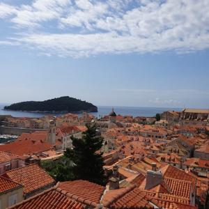 オレンジ色の瓦屋根が美しい旧市街