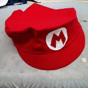 自己流:マリオの帽子風三角巾を作る その2