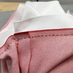 和裁:女物袷長着の袖付け