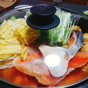 鮭のキムチ鍋!