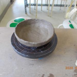 初の陶芸作品は、孫のお供で行った立杭焼きだ!