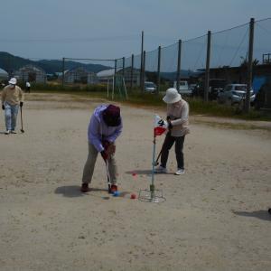グラウンド・ゴルフの練習・6/1再開