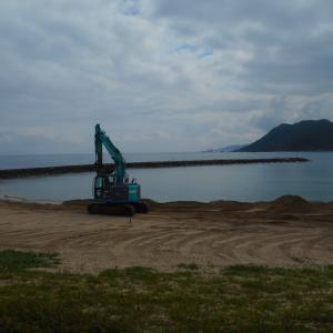 八丁浜海水浴場➡砂の移動整備