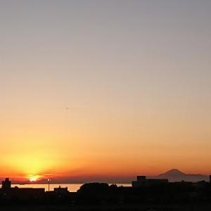 2020.1.3 富士山と夕日
