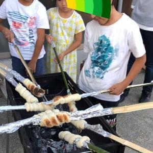 まきまき竹でパン焼くよ〜