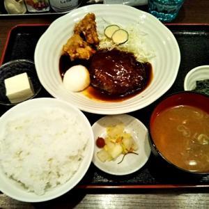 令和02年01月16日(木) 昼:名古屋市名東区・食堂うさみ ハンバーグ から揚げ 夜:家飯・サラダ 鯖 湯豆腐 豚しゃぶ