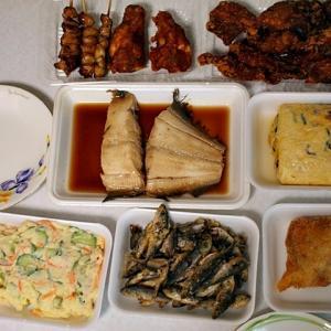 令和02年07月12日(日) 昼:家飯・カップヌードル 夜:家飯・伊賀 鮮魚店フジヤマ こけこっこ本舗 お惣菜やらなんやらかんやら