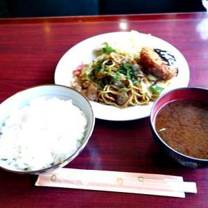 令和03年01月13日(水) 昼:名古屋市港区・あおい 焼きそば ランチ 夜:家飯・まぐろ切り落とし 餃子 炒飯