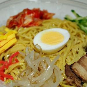 令和03年05月20日(木) 昼:家飯・わかめラーメン 夜:家飯・サラダ キムチ 冷やし中華
