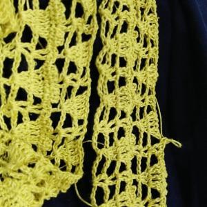 病院で編み編み