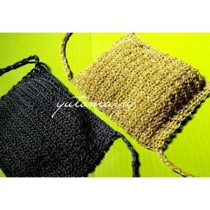 夏の編みマスク
