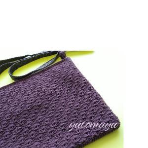 【完成】かぎ針編みのサコッシュ
