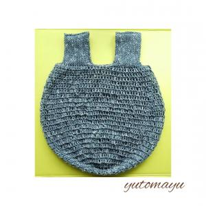 コロンとした、手編みエコバッグ
