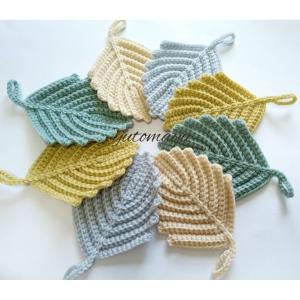 「葉っぱのエコたわし」編み図公開