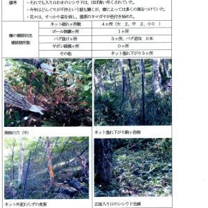 赤城山覚満淵の防鹿柵点検報告書 令和2年度 NO.17