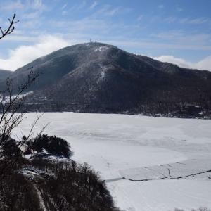冬の赤城山を往く(その2)猫岩