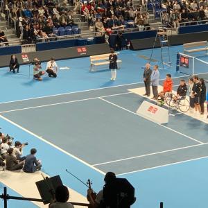 豪華なメンバーのテニスマッチを観てきました
