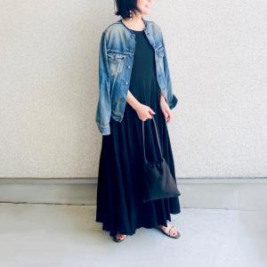my basic item▷涼しげ黒ワンピ