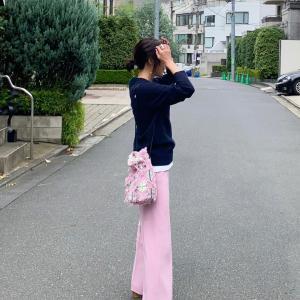 ピンクのパンツ、こんな感じでまとめました