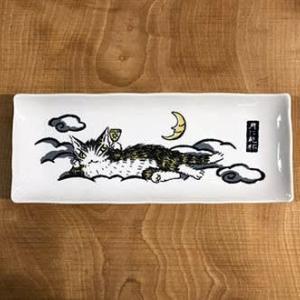 売り物ではないのですが、、、ダヤンの長皿です。 @nara_mise