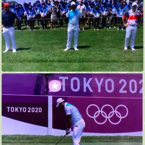 今日はオリンピックゴルフ観戦でステイホーム。