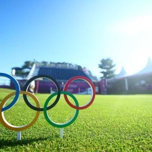 今日は五輪女子ゴルフを観戦!(;^ω^)