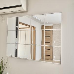 【DIY】IKEAのLOTSで窓風ミラーが完成!
