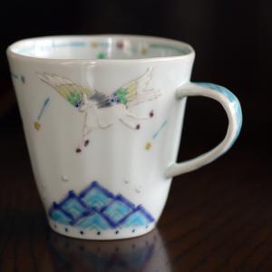 「 ペガサス マグカップ(小) 」 作・うつわ藍水(波佐見焼)
