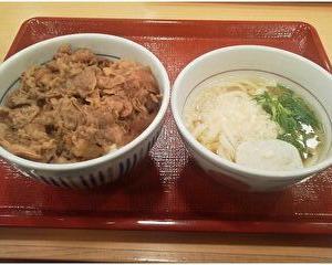 【なか卯】和風牛丼+はいからうどん(小)セット