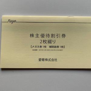 愛眼から株主優待 2万円台で取得 メガネと補聴器の割引優待券