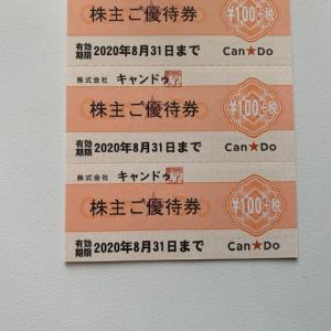 キャンドゥから株主優待 店舗で使える100円+税の優待券