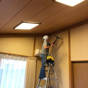 天井と床のスチーム掃除