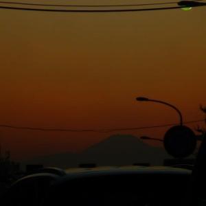 #サンセット富士山