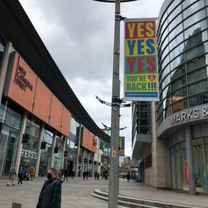パンデミック開始以来、初めて行ったマンチェスター、久しぶりのショッピング体験を満喫、それでもいろいろ変化があったのはたしか...