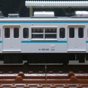 モハ301-22[ミツK3F] 青帯冷房改造車 TOMIX製PS16R(PS21)形パンタグラフ(0262)換装試行